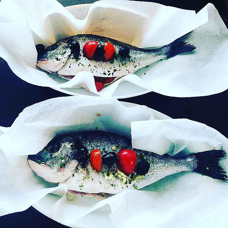 Pesce bij Italiaans restaurant Gusto Di ItALB Gusto Di ItALB in Den Haag